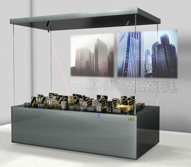 Variaiante Tischvitrine für z.B.: Architekturmodelle (Entwurf)